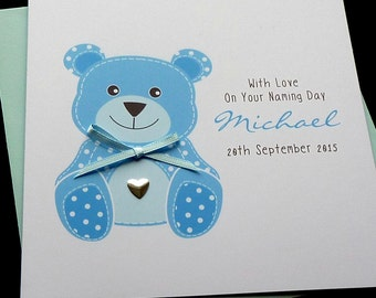 Naming Day personalised card