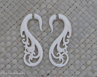 Fake Gauge Earring, Kan Ethnic Earring, Bone Fake Piercing