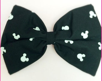 Mickey Mouse inspired hair bow