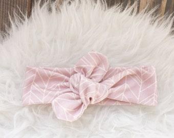Pink Herringbone Headband,Organic Pink Headband, Pink knot Headband,Pink herringbone,Turban Headband, Infant Headband, Adult headband