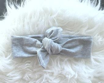 Gray Knot Headband, Gray Heaband, GrayTurban, Headband, Knot Head Wrap,Turban Head Wrap, Infant Headband, Toddler Headband, Adult Headband