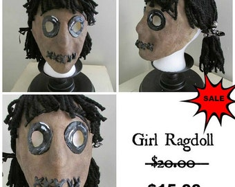 Girl Ragdoll Latex Mask Handmade