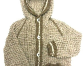 Knitted sweater-jacket for children        Вязаная кофта-куртка для детей