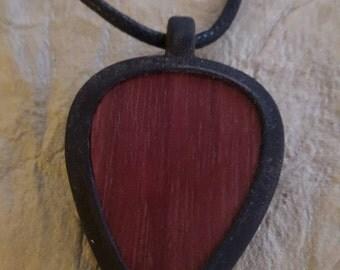 Purpleheart/ Pickbandz pendant