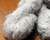Recycled Sari Silk Yarn Hank - Ivory / White