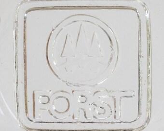 Vintage Forst Germany glass ashtray