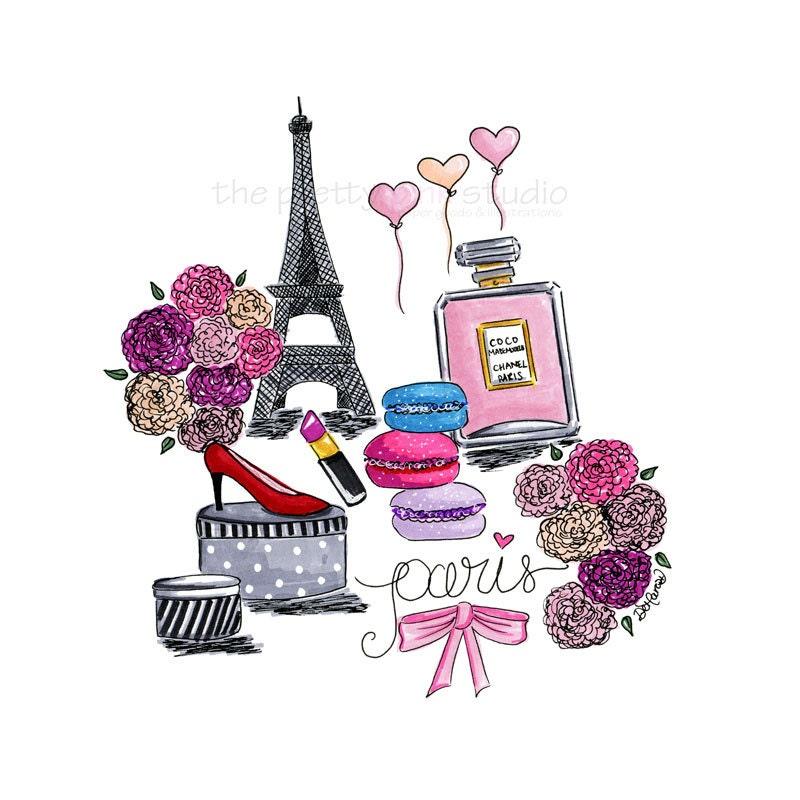 Paris Illustration: Fashion Illustration Paris Wall Art Paris Illustration