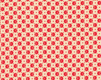 Chicopee Voltage Dot Red by Denyse Schmidt for Free Spirit Fabrics, 1/2 yard, PWDS034.Red