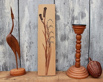 Vintage wooden wall hanging plants GDR 60s mid century East Germany