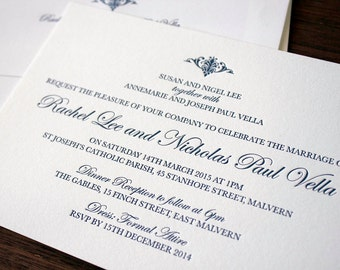 Letterpress Wedding Invitations - Lyon
