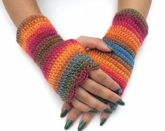 Arm Warmers Fingerless Gloves wristwarmer gloves, winter accessory, fingerless mittens, autumn gloves, winter gloves, hand crochet