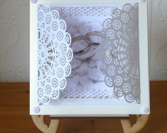 Paper Lace Wedding Day Card