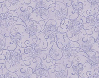 3/8 Yard REMNANT He Still Loves Me - Mini Scroll in Purple - Cotton Quilt Fabric - by Jackie Robinson for Benartex Fabrics 3276-66 (W2911)