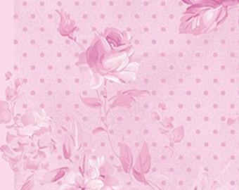 One Yard Christine - Morning Dew in Cerise Pink - Cotton Quilt Fabric - Eleanor Burns for Benartex Fabrics - 711-89 (W2933) Zoey
