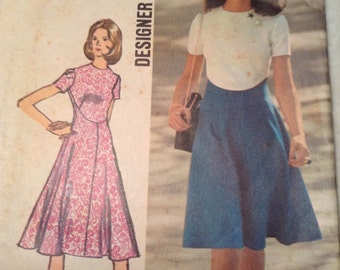 Simplicity 9912 Color Block Dress Sewing Pattern Womens Size 14