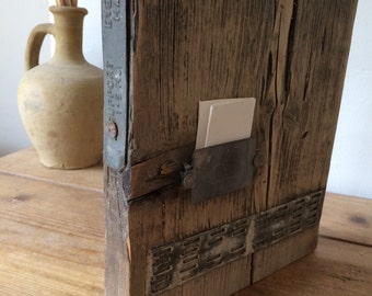 Industrial chic - upcycled steel plate - to hold a secret message birthday - anniversary - love - Added as an extra element to a photo block