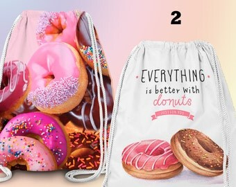 Gym-Bag, Gym Drawstring Bag, Turnbeutel, Sportbeutel, Gymnastikbeutel , Cupcakes