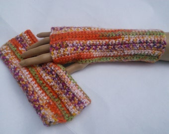 Multi Colored Fingerless Glove