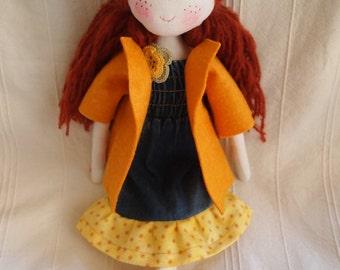 Esther - waldorf inspired ragdoll, cloth doll, rag doll,balerina doll-READY TO SHIP