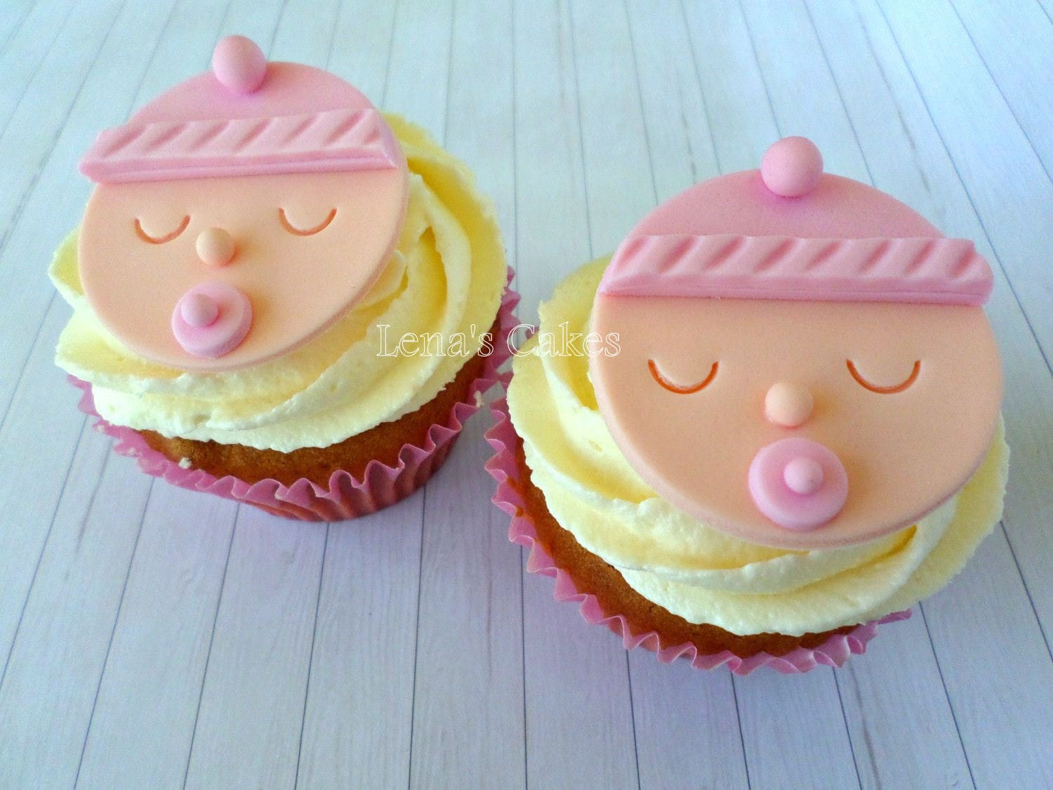 Edible cupcake decorations baby shower -  Zoom