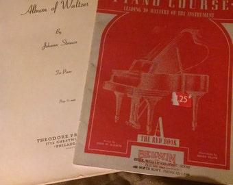 1940s music books for piano ww2 school retro vintage