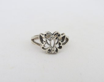 Vintage Sterling Silver Butterfly Ring Size 7.75