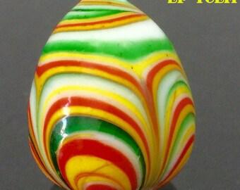 Antique Vintage Leklai Keaw Multi Color Stone Talisman Lucky Charm 14.4grams