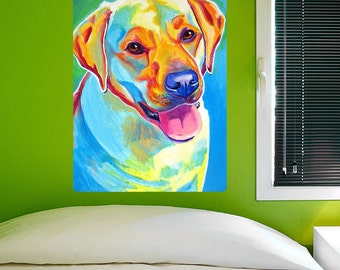 May Yellow Labrador Dog Wall Decal - #59936