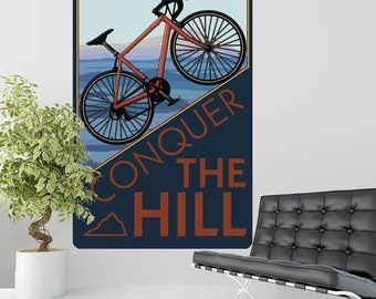 Bicycle Sports Conquer the Hill Wall Decal - #60859