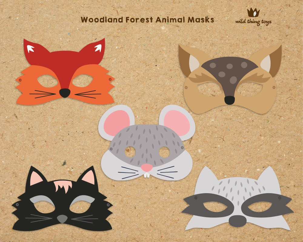 woodland animal masks template - animal masks to print out bing images