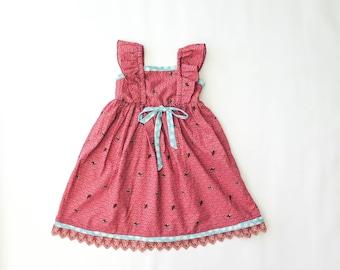 SEWING PATTERN, Girls Pinafore Dress Pattern, Apron Dress, Vintage Style Dress, 7 Sizes: 18months  to 7 years, Toddler Pinafore Pattern