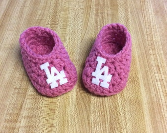 Los Angeles Dodgers Booties - Newborn Size - Baby Shower Gifts