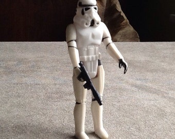 Vintage Original Star Wars Loose Stormtrooper Action Figure By Kenner Made In Hong Kong From 1977