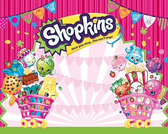 70% OFF Shopkins Backdrop INSTANT DownLoad