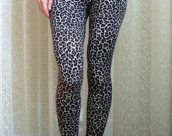 Yoga Leggings, Cheetah Leggings, Animal Print, Beige Leggings, Printed Patterned Leggings, Workout Pants, Yoga Tights Custom