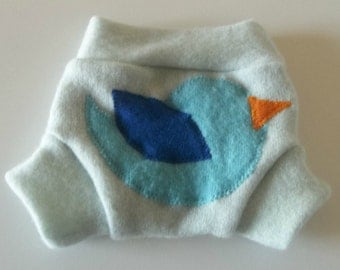 NEWBORN 100%  Wool Cloth Diaper Cover, Upcycled Wool Soaker, Wool Shorties