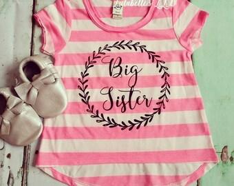 Big Sister Shirt, Big Sister Outfit, Big Sister, Big Sister Graphic Tee, Big Sister, Big Sister Raglan