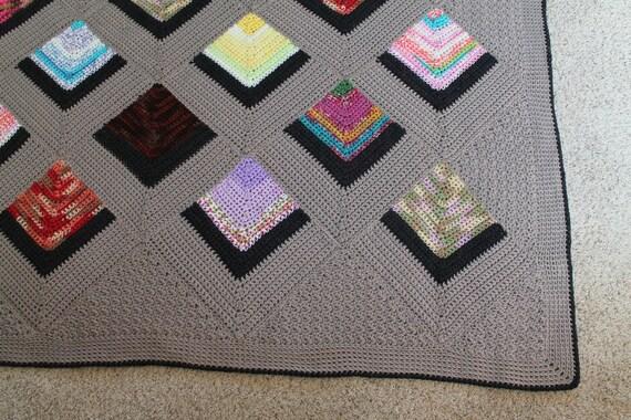Crochet Afghan Pattern Mitered Squares Stashbuster