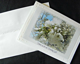 THANK YOU for Wedding Gift; handcrafted greeting card created by Pam of Pam's Fab Photos,