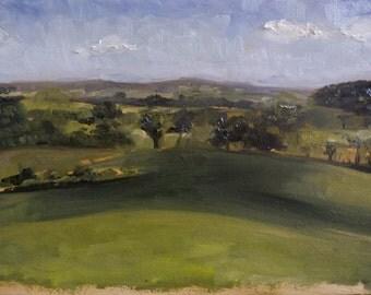 Scottish Landscape - Scotland Plein air Oil Painting Fields