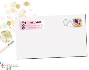 Minnie Mouse Address Label ( SKU: MMAL01 )