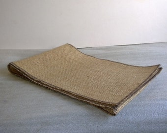 "6"" Burlap Ribbon w/ Brown Edge- 10 Yards"