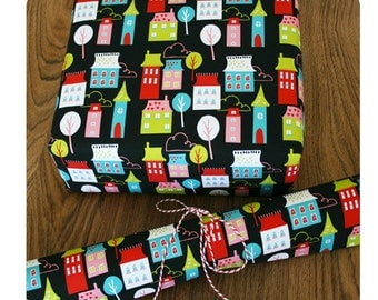 Houses gift wrapping paper
