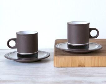 Pair of Hornsea Contrast Coffee Cups