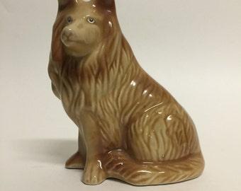 Vintage Dog Figurine, Collie, Puppy Figurine