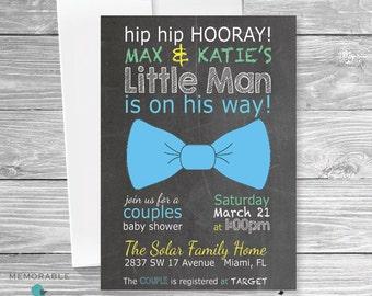 Baby Shower Invitation - Cute Baby Shower Invitation - Bow Tie Baby Shower - Boy Baby Shower Invitation - Shower Invitations - Printable