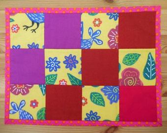 Blue Bird patchwork place mats