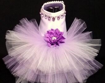 Purple Countessa! XXSmall to 4XLarge Dog Dress, Dog Tutu, Dog Harness Dress, Wedding Dress, Dog Wedding Dress, Harness Dress,