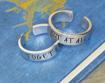 Together Or Not At All Dr Who Ring Set - Couple - Best Friends