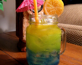 Florida Sunset Tropicle Drink Candle made with Gel Wax